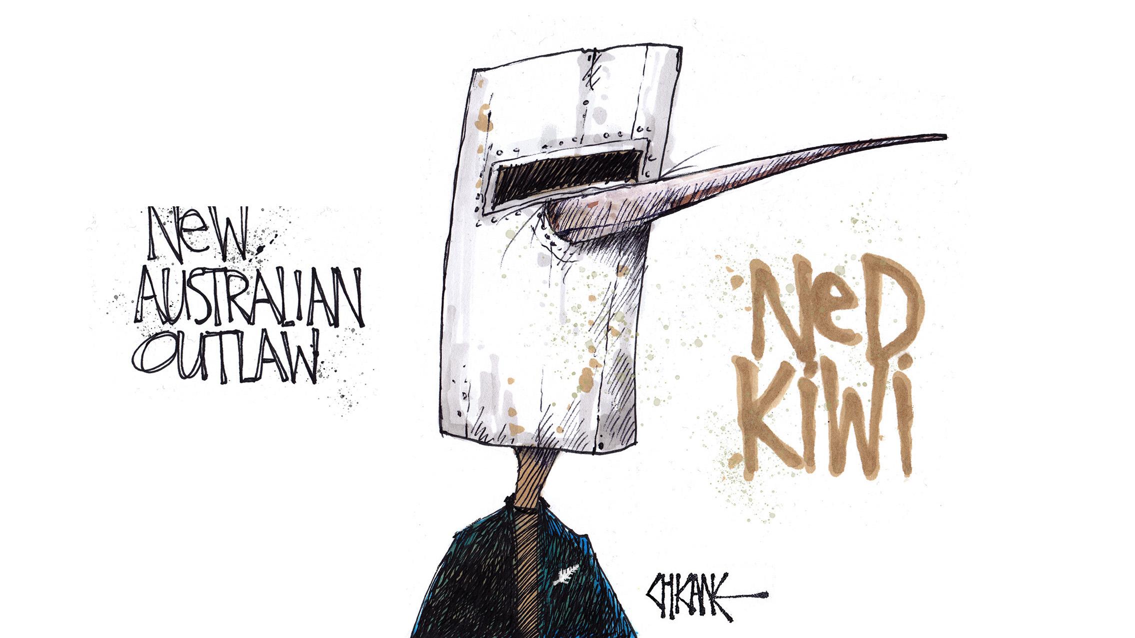 Ned Kiwi Cartoon by Chicane