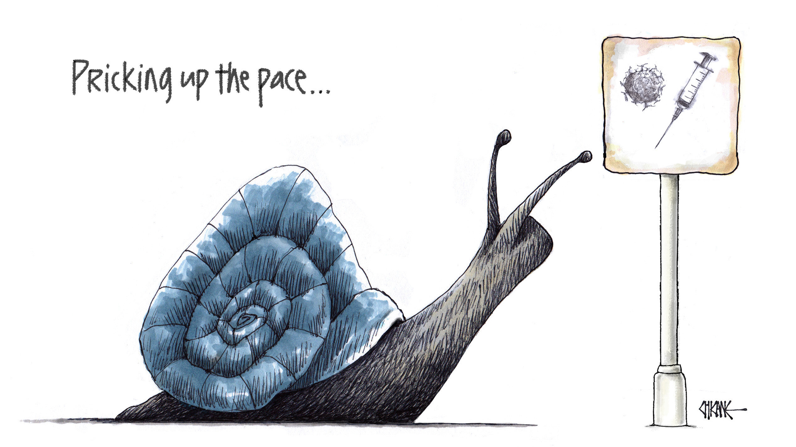 Pricking Up The Pace Chicane Cartoon