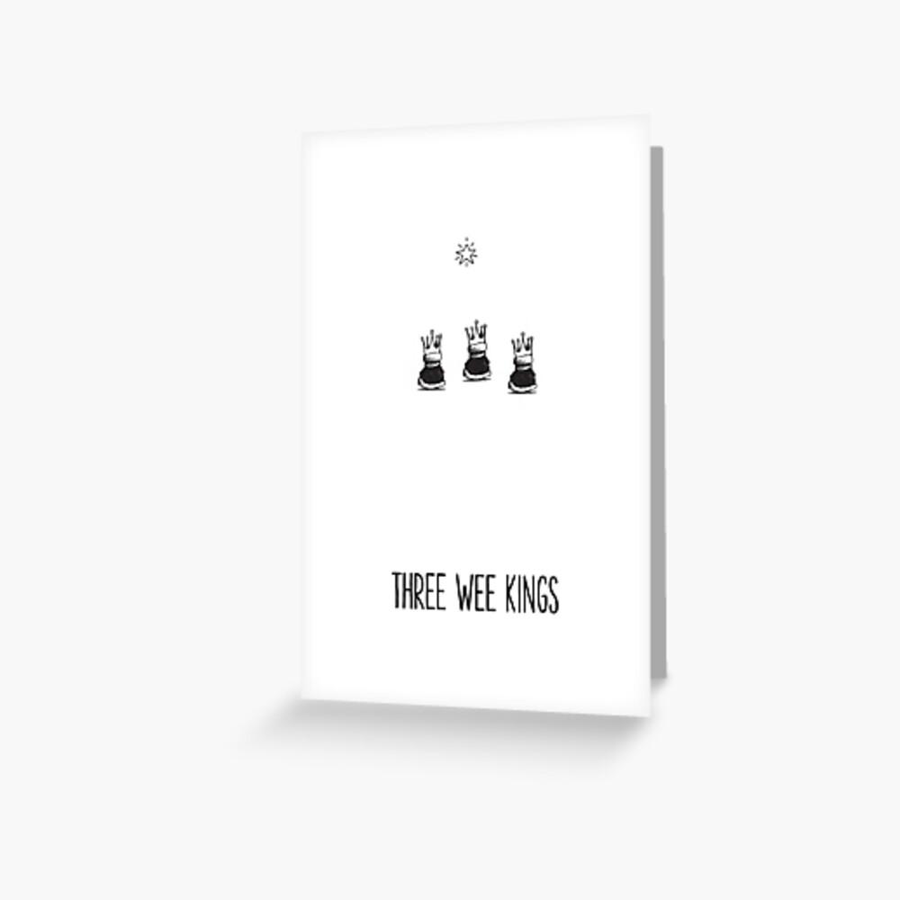 Three Wee Kings Cartoon Christmas Card by Chicane